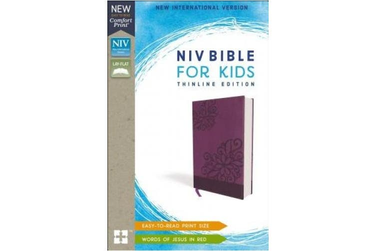 NIV Bible for Kids, Imitation Leather, Purple, Red Letter Edition, Comfort Print: Thinline Edition