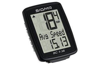 (Black, One Size) - Sigma 'Bike Computer BC 18cm