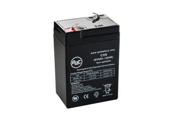 JohnLite cy-0112-6.40 6V 5Ah Emergency Light Battery - This is an AJC Brand® Replacement