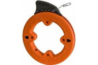 (7.6m) - 0.6cm Steel Fish Tape 7.6m, Great for Short Runs, Conduit Measuring and as Pull Line Klein Tools 56005