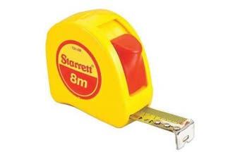STARRETT KTS1-8M-N Tape Measure,2.5cm x 8m Metric G4856489