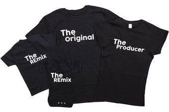 (DAD Small, Black) - ART HUSTLE The Original The Remix Father and Baby Matching Outfits (Sold Separately)