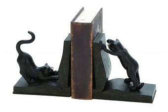 Polystone Cat Bookend Pair For Books Lovers