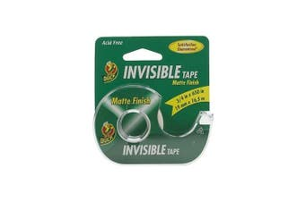 (1.9cm  x 1650cm /Roll, Single Roll (with Dispenser)) - Duck Invisible Tape With Dispenser .190cm x 1650cm