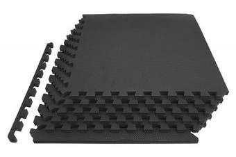 """(Grey 3/4"""") - Prosource Fit Extra Thick Puzzle Exercise Mat 3/4"""" or 2.5cm , EVA Foam Interlocking Tiles for Protective, Cushioned Workout Flooring for Home and Gym Equipment"""