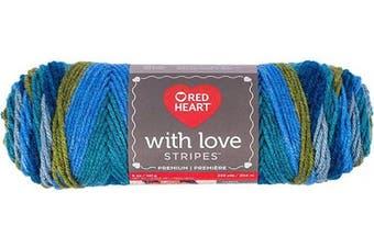 (Stripe, Stripe - Rainforest Stripe) - Red Heart E400.1974 With Love Yarn, Stripe - Rainforest Stripe