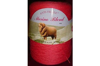 (Pink 858) - King Cole Pure Wool 4ply 500g Cone (Pink 858)