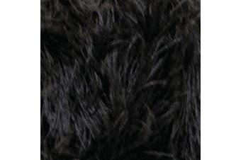 King Cole Moments Eyelash Knitting Yarn 50g Ball Feather Style Fashion Yarn (Black - 474)