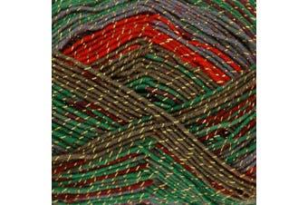 (Grinch - 2354) - King Cole Party Glitz 4ply Knitting Yarn Sparkly Bright Wool 100g (Grinch - 2354)