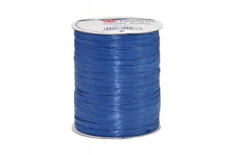 Prasent 100 m Rayon Raffia Spool Ribbon, Royal Blue