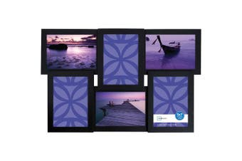 Mainstays 6-Open 5x7 Black Collage Frame