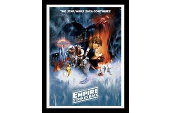 "Star Wars 30 x 40 cm ""The Empire Strikes Back One Sheet"" Framed Print"