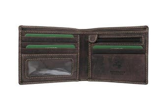 (Oil Brown) - Visconti Oiled Leather SHIELD Wallet 707 Oil Brown