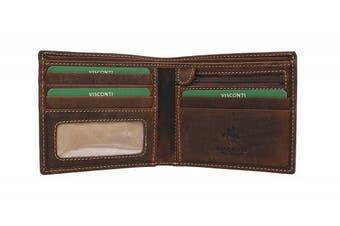 (Oil Tan) - Visconti Oiled Leather SHIELD Wallet 707 Oil Tan