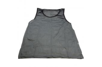 (Single Vest, Grey) - BlueDot Trading Youth Scrimmage Training Vests, Multiple Colours and Quantities