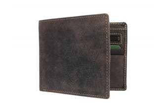 (Oil Brown Rfid) - Visconti Hunter Oiled Leather SHIELD Wallet 707 Oil Brown RFID