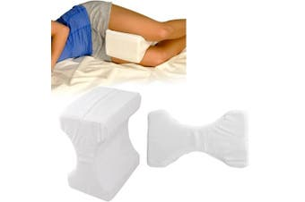 AlayGreen MEMORY FOAM LEG PILLOW ORTHOPAEDIC FIRM BACK HIPS & KNEE SUPPORT WITH COVER