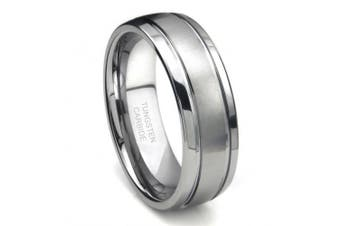 (12) - Tungsten Carbide Newport Double Groove Dome Wedding Band Ring Sz 12.0