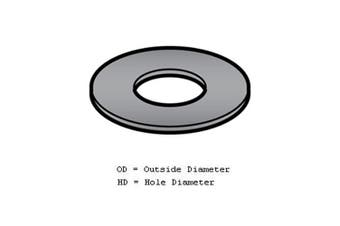 (2.5cm  - 1.6cm  OD, 2.2cm  HD) - Fibre Washer for Meat Grinder/Chopper - 2.5cm - 1.6cm OD, 2.2cm HD