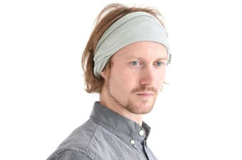 (Light Gray) - Casualbox mens Elastic Bandana Headband Japanese Long Hair Dreads Head wrap