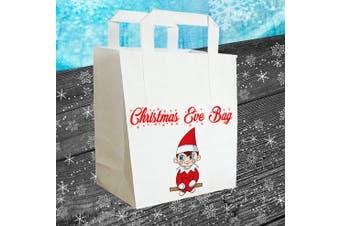 Christmas Eve Gift Bag (Red Elf Design) Boys / Girls / Kids / Big Kids