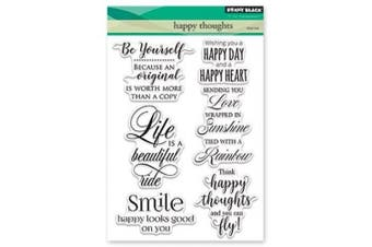 """Penny Black Happy Thoughts Clear Stamps, 5""""X7"""""""