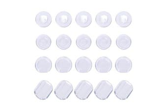 100 Pieces Earring Pads Clip Earring Cushion Silicone Earring Backs for Ear Clip, 4 Shapes, Clear