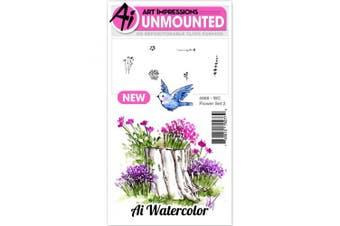 Art Impressions Watercolour Cling Rubber Stamps, 10cm x 18cm