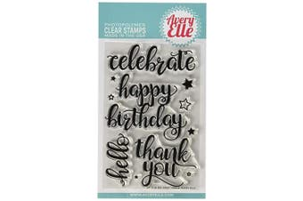 Avery Elle Clear Stamp Set 10cm x 15cm