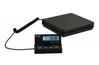 AWS SE-50 Ship Elite Black Low Profile Shipping Scale with Backlit LCD and 50kg Capacity