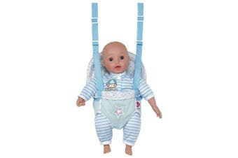 Adora GiggleTime 38cm Boy Vinyl Weighted Soft Body Toy Play Baby Doll with Laughing Giggles and Harnessed Wrap Carrier Holder for Children 2+