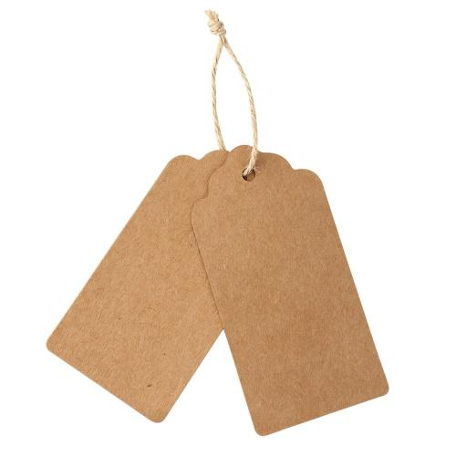 Gift Tags,120 PCS Kraft Paper Tags DIY Tags for Wedding Brown Rectangle Craft Hang Tags with Free 30m Natural Jute 120 PCS Kraft Paper Gift Tags with 30m Natural Jute Twine