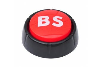 """BS Button - This Button Says """"BS"""" in 10 Different Voices By Allures & Illusions"""