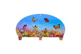 (3 Hooks, Butterfly) - Next Innovations Coat Rack Wall Mounted Butterfly Three Hook Coat Rack