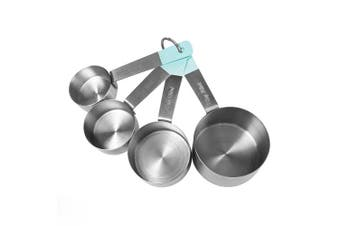 (Measuring Cups, Teal) - Jamie Oliver Measuring Cups Set, Nest for Easy Storage, Stainless Steel