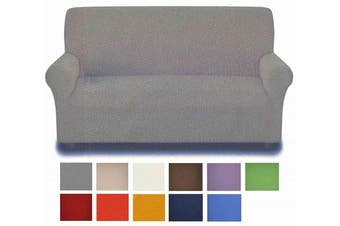 (Grey) - Stain-resistant: 2-seater sofa cover from 140 to 180 cm. - GRIGIO - GREY
