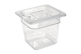 Vogue 1/6 Gastronorm Container 150mm 2.3 Litre Clear Catering Food Storage Pan