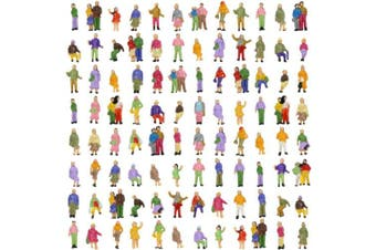 Evemodel 100pcs Model Trains 1:150 Scale Painted Figures N