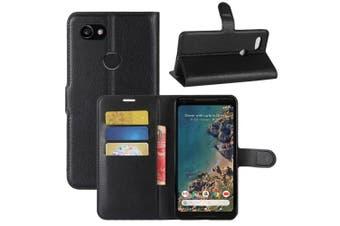 (Black) - Google Pixel 2 Case, iPro Accessories® Google Pixel 2 Book Case, Google Pixel 2 Wallet Case, Google Pixel 2 Card Slot Case,