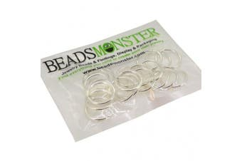(18mm, Silver) - BeadsMonster Jewellery Findings Jump rings for Jewellery design and Making , Silver Colour, 18mm, 20g