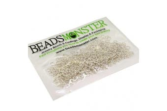 (4mm, Silver) - BeadsMonster Jewellery Findings Jump rings for Jewellery design and Making , Silver Colour, 4mm, 20g