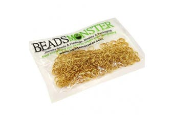(6mm, Golden) - BeadsMonster Jewellery Findings Jump rings for Jewellery design and Making , Gold Colour, 6mm, 20g