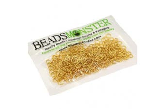 (5mm, Gold) - BeadsMonster Jewellery Findings Jump rings for Jewellery design and Making , Gold Colour, 5mm, 20g