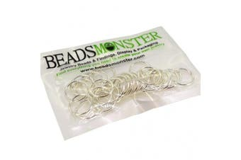 (16mm, Silver) - BeadsMonster Jewellery Findings Jump rings for Jewellery design and Making , Silver Colour, 16mm, 20g