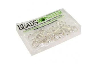 (12mm, Silver) - BeadsMonster Jewellery Findings Jump rings for Jewellery design and Making , Silver Colour, 12mm, 20g