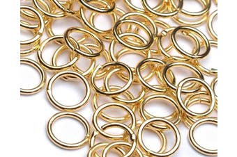 Beads Unlimited 7 mm Gold Plated Metal Jump Ring, Pack of 100