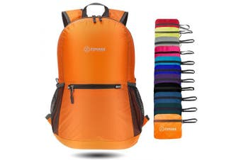 (Orange) - ZOMAKE Ultra Lightweight Packable Backpack Water Resistant Hiking Daypack,Small Backpack Handy Foldable Camping Outdoor Backpack Little Bag
