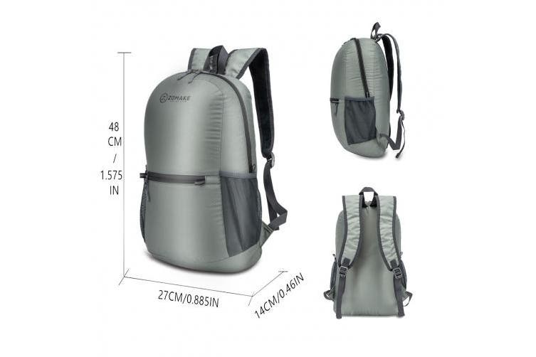(Grey) - ZOMAKE Ultra Lightweight Packable Backpack Water Resistant Hiking Daypack,Small Backpack Handy Foldable Camping Outdoor Backpack Little Bag