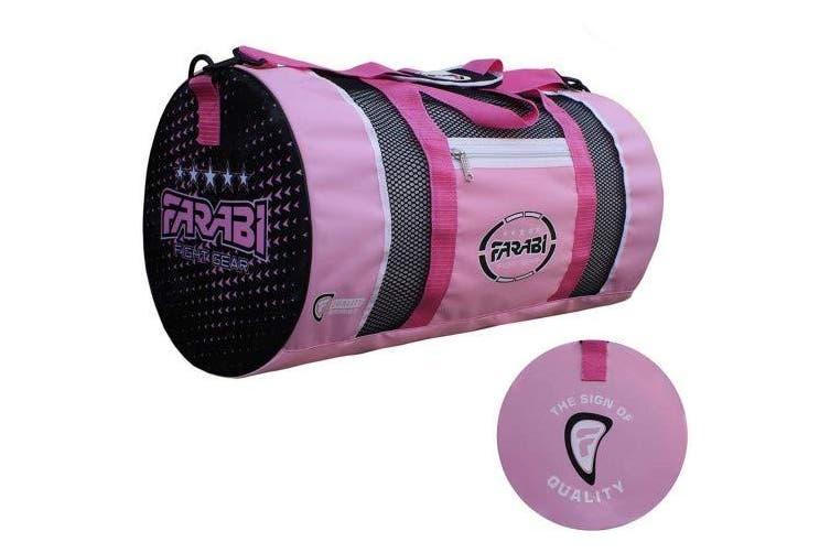 (Pink) - Farabi,gym fitness workout gear bag, MMA, boxing gear bag, holdall training gear travel bag