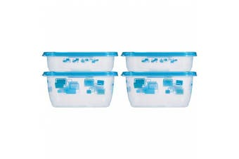 Glad Food Storage Containers, MatchWare Rectangle, Two 950ml, Two 1890ml